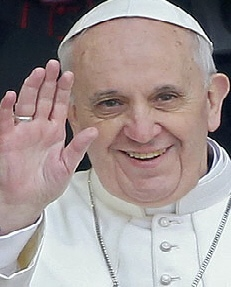 POPEFranciswaving