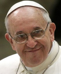 Pope Francissmiles