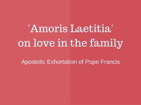 The Exhortation will be presented to journalists at the Holy See's Press Office on Friday 8 April at 11.30am (Rome time).