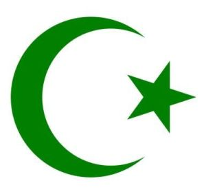 Islam crescent and starGREEN
